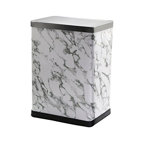 Shi xiang shop Swing Top Trash Can With Lid, 12 Liter Square