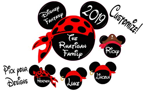 Custom Disney Pirate inspired Cruise Magnet - Personalized Door Magnet - Sign ()