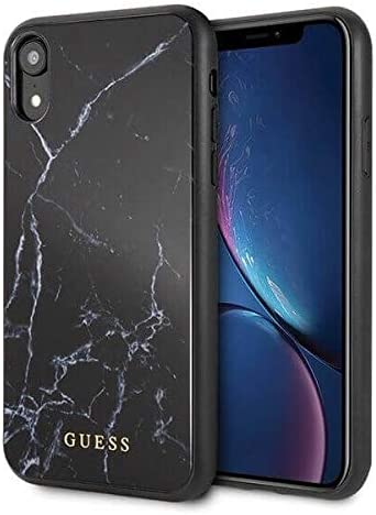 Guess GUHCI61HYMABK Marble - Carcasa rígida para iPhone XR, Color Negro: Amazon.es: Electrónica
