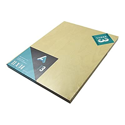 Aa Super Value Wood Panel 5Mm 9X12 Pk/4