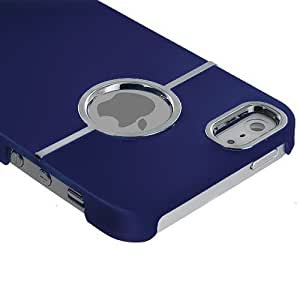 Accessory Planet(TM) Blue Deluxe Hard Snap-On Rubberized Rear Case Cover for Apple iPhone 5 / 5S