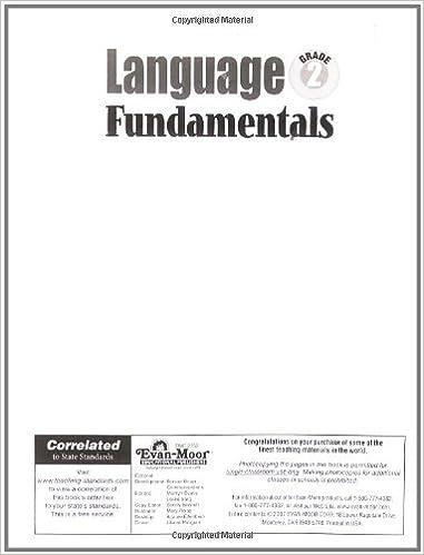 Language Fundamentals, Grade 2: Evan Moor: 9781596731622: Amazon ...