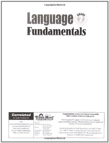 Language Fundamentals, Grade 2: Evan Moor: 9781596731622: Amazon ...