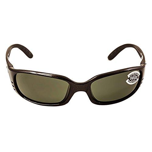 Costa Del Mar BR22OGGLP Brine Sunglass, Gunmetal Gray Costa Del Mar Gunmetal Sunglasses