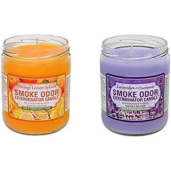 Amazon.com: Vela neutralizadora de olor a humo, frasco de 13 ...