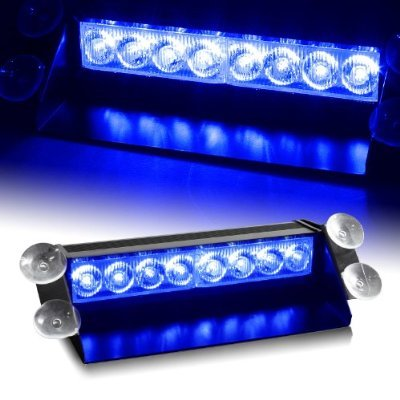 Price comparison product image 8 LED Car Strobe Warning Tow Dash Blue Light