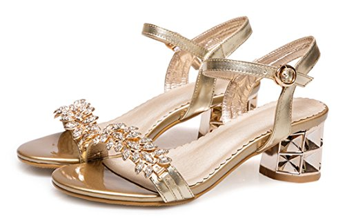 Respeedime Summer New Sandals Women Open Toe Large Size Shoes Slippers Gold tWHyuf