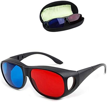 Solarson 3Dメガネ レッドブルー 3Dメガネ すべての3D映画ゲーム用 TV軽量シンプルデザイン GL-E1-1