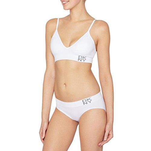 DKNY Intimates Women's Energy Seamless Bralette 735257 White Bra LG