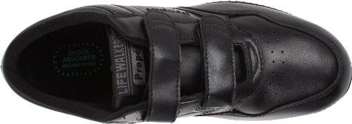 Propet M3705 - Sandalias deportivas de cuero para hombre negro negro negro - negro