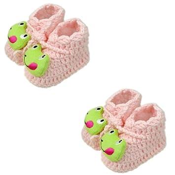 Pink Frog Woolen Yarn Baby Newborn