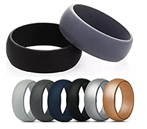 Amazon Com Comfort Band Silicone Wedding Band For Men Rubber Ring For Yoga Crossfit