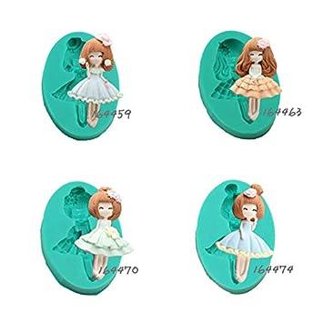 Fiesta 164463 - Molde de silicona para repostería de muñecas, diseño de Barbie en 3D: Amazon.es: Hogar