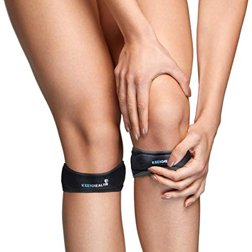 Knee Strap - Knee Braces for Men and Women - Knee Pain Relief - Patella Stabilizer - Knee Braces for Knee Pain - Keenhealth Patella Knee Strap - K-PK-455-1pack