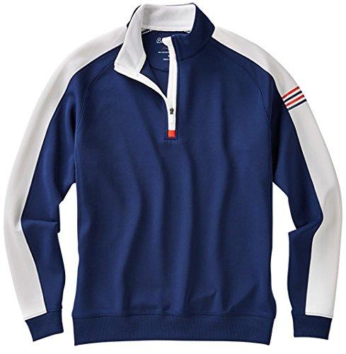 Bobby Jones Men's Xh2O Performance Color Blocked 1/4 Zip Golf Jacket, Summer Navy, Large by Bobby Jones