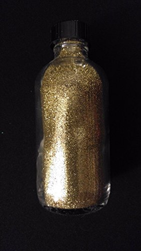 GOLD COLOR TATTOO Quality Fine Cosmetic Body Glitter 4oz Glass Artists Bottle