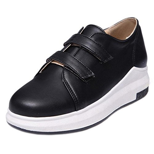 AicciAizzi Fashion Thick Shoes Sole Women Black ggq8rAO