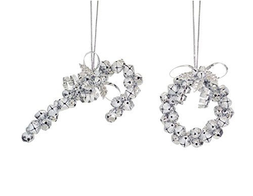- Diva At Home Pack of 12 of an Assortment of 2 Silver Colored Jingle Bell Ornaments 5