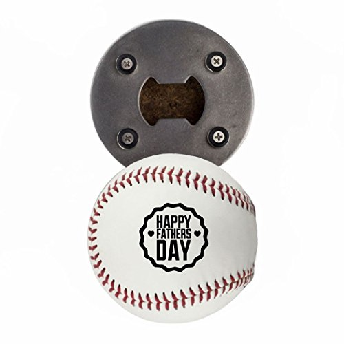 - Father's Day Baseball Gift, Bottle Opener made from a real Baseball, Happy Father's Day, Cap Catcher, Fridge Magnet