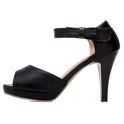 Sandals Toe High Peep Coolcept Women Black Heel fFwgqnpB4n