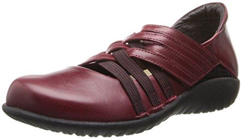 Naot Women's Kawaka Flat - Puma Leather/Wine Crinkle Pate...