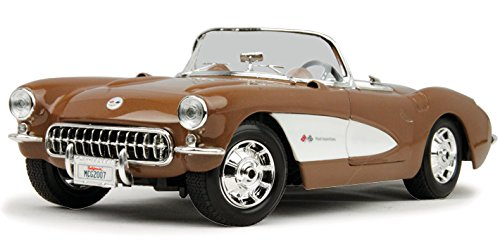 1957 Chevy Corvette Convertible, Bronze - Maisto 31139 - 1/18 Scale Diecast Model Toy (Diecast 1957 Chevy Corvette)