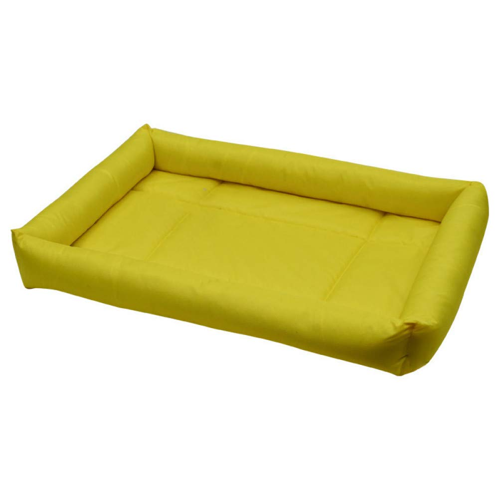 yellow XXXL CZHCFF Tip claw 7 color S-3XL dog bed Oxford waterproof soft PP cat bed summer cotton dog bed