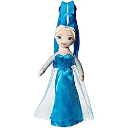 Disney Girls' Frozen Elsa Plush Backpack, Blue