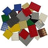 LEGO - Planchas lego (25 unidades, tamaños variados), varios colores