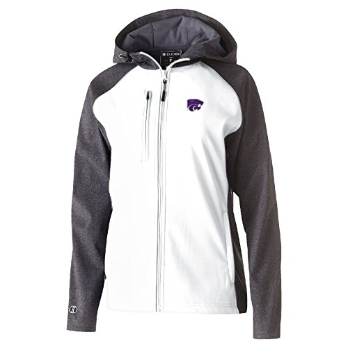 NCAA Kansas State Wildcats Women's Raider Soft Shell Jacket, X-Large, Carbon Print/White