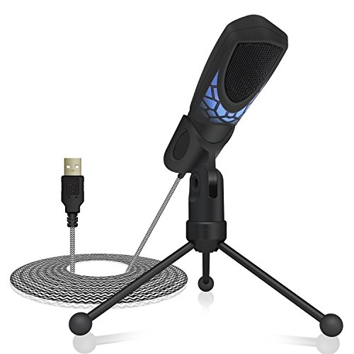 (TONOR Gaming Microphone PC USB, Computer Condenser Studio Mic Plug & Play for Gaming/Chatting/Skype/YouTube/Recording/Podcasting for Mac OS X and Windows PC Computers)
