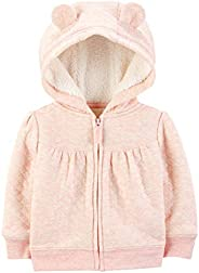 Simple Joys by Carter's Baby Girls' Hooded Sweater Jacket with Sherp