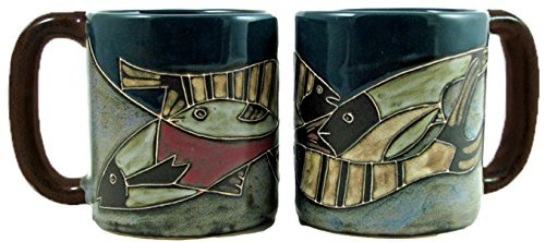 Mara Stoneware Mug - Fish School - 16 oz