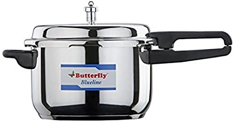 60be8c28b Image Unavailable. Image not available for. Colour  Butterfly BL-3L Blue  Line Stainless Steel Pressure Cooker