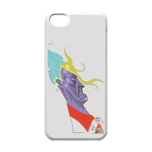 T0N21 Chika de erdewika A4Y1WM coque iPhone 5c cellule de cas de téléphone couvercle coque blanche DA4CIN7RK
