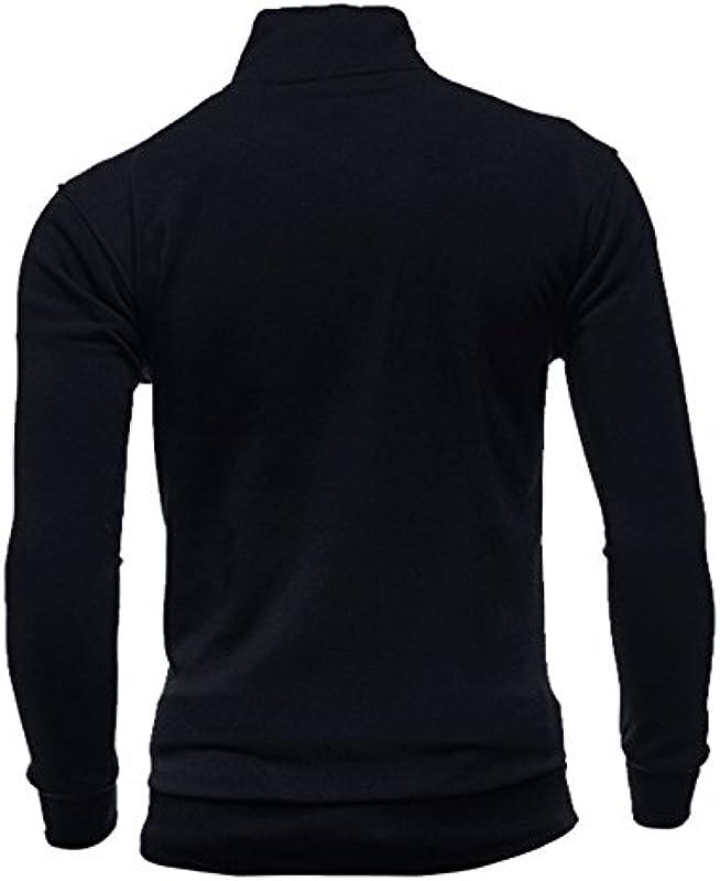 Harpily ciepły sweter męski/sweter suwak męski/zima czas wolny sport cardigan suwak bluza top kurtka płaszcz: Odzież