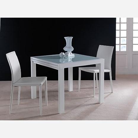 Tavolo da cucina allungabile in vetro Space - SG328: Amazon ...
