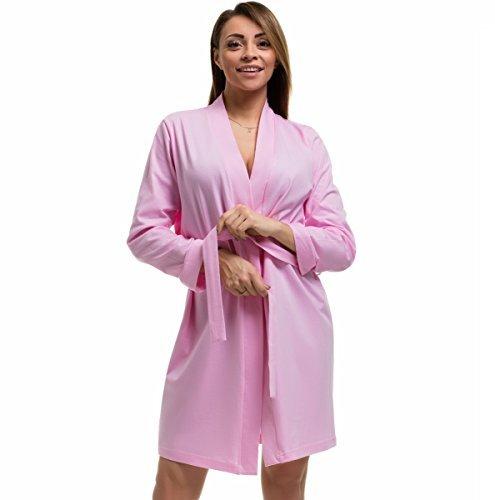 e1b5a275123 BBBridal Ladies Soft Cotton Lightweight Robe Kimono Dressing Gown Spa  Summer Bridal Bridesmaid Plus Size 8-26  Amazon.co.uk  Clothing