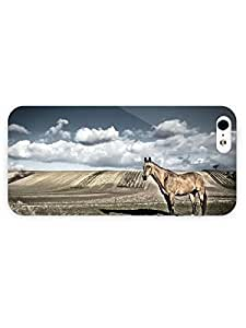 3d Full Wrap Case for iPhone 5/5s Animal Horse On The Field