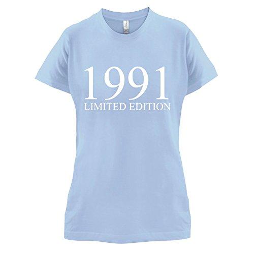 1991 Limierte Auflage / Limited Edition - 26. Geburtstag - Damen T-Shirt - Himmelblau - M