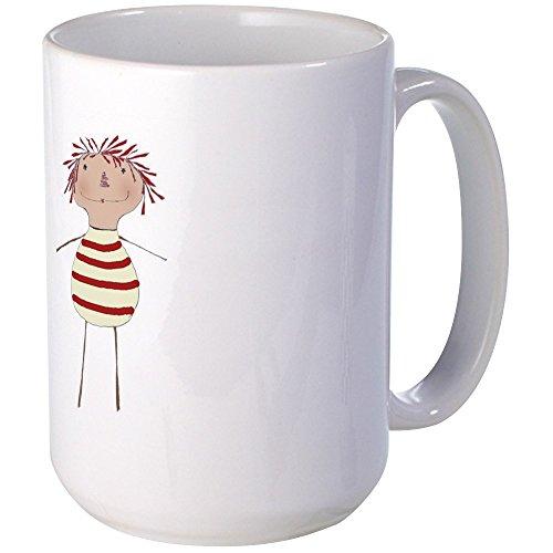 Primitive Raggedy Ann Doll (CafePress - Stick Annie Large Mug - Coffee Mug, Large 15 oz. White Coffee Cup)