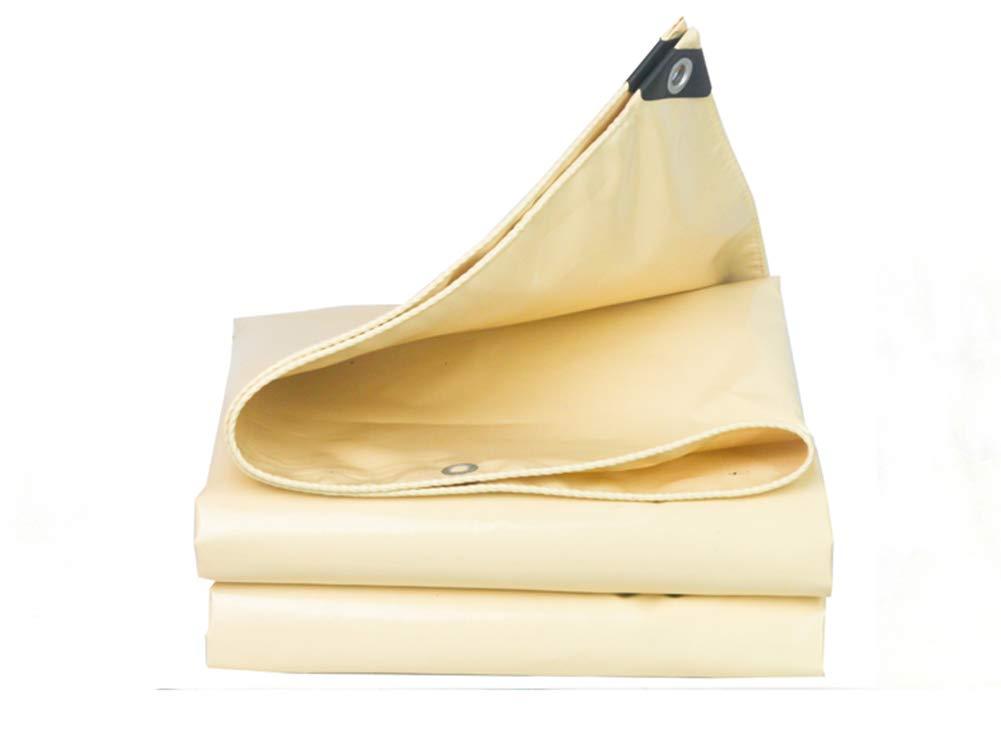 FSBFF Cremefarbene Plane, Messerschaberplane regendichter Sunscreen verdicken Linoleum Himmeltuch Schattentuch Tuch-Segeltuch