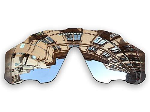Vonxyz Lenses Replacement for Oakley Jawbreaker Sunglass - Chrome MirrorCoat ()