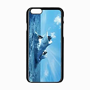 iPhone 6 Black Hardshell Case 4.7inch gorilla sea sky Desin Images Protector Back Cover