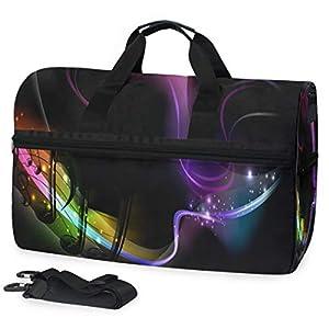 Gym Bag Cool Music Rainbow Duffle Bag Large Sport Travel Overnight Bags for Men Women