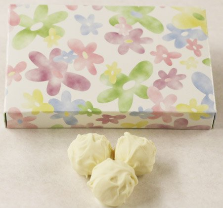 Apricot Chocolate Candy (Scott's Cakes Apricot White Chocolate Truffles in a 8 oz. Daisy Box)