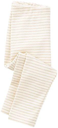 Girls Sparkle Stripe (Tea Collection Girls' Sparkle Stripe Leggings, Chalk, 18-24 Months Baby)