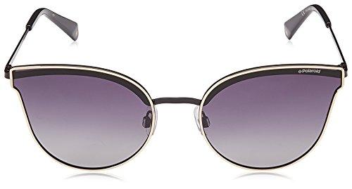 Polaroid métallique lunettes polarisé de fine Gold Jaune PLD gris S soleil J5G 58 4056 cateye xIqIrwdF0