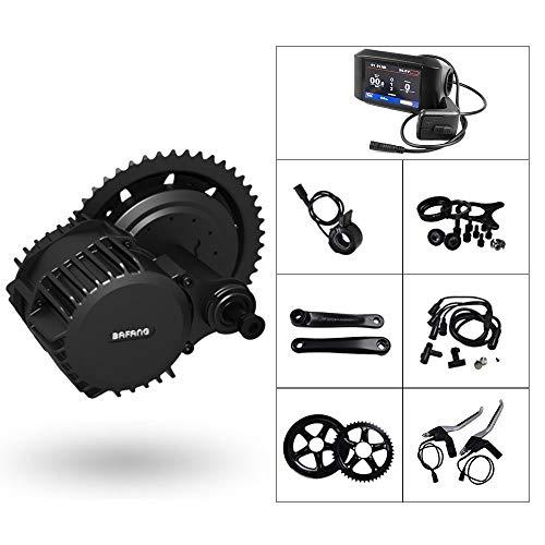 Electric Bike Mid Drive Kit Mountain Bike Conversion Kit BAFANG 1000W BBSHD Mid Drive System 68MM Bottom Bracket 42T Chain Wheel 850C Color Display