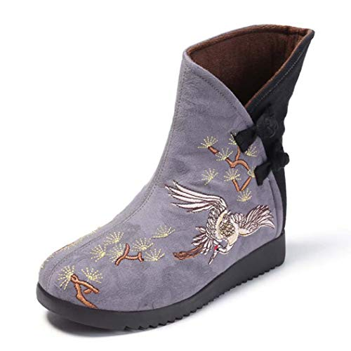 Kyle Walsh Pa Women Ankle Boots Classic Embroidery Shoes Fem